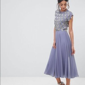 ASOS tall embellished lilac colored dress
